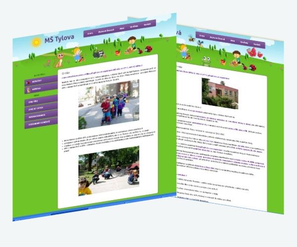 Webová prezentace pro MŠ Lilova a MŠ Tylova