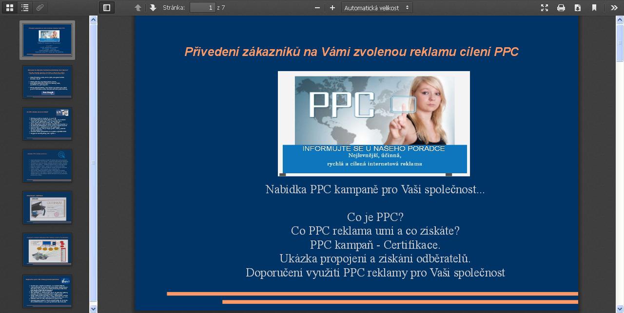Nabídka PPC