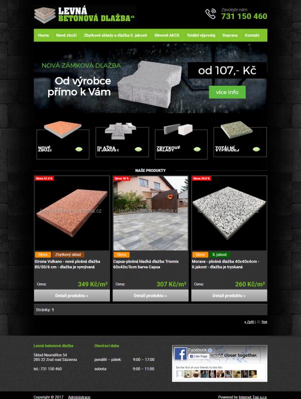Levná betonová dlažba Home