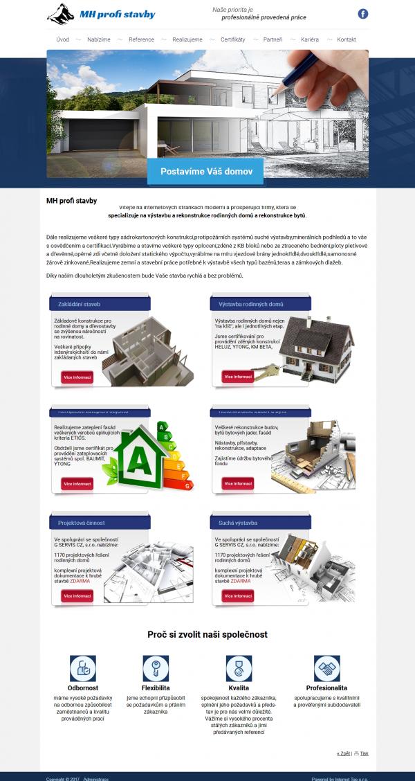 Redesign tvorby pro našeho klienta nová podoba www