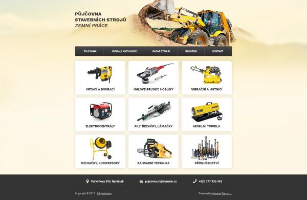 www prezentace pro Půjčovnu stavebních strojů