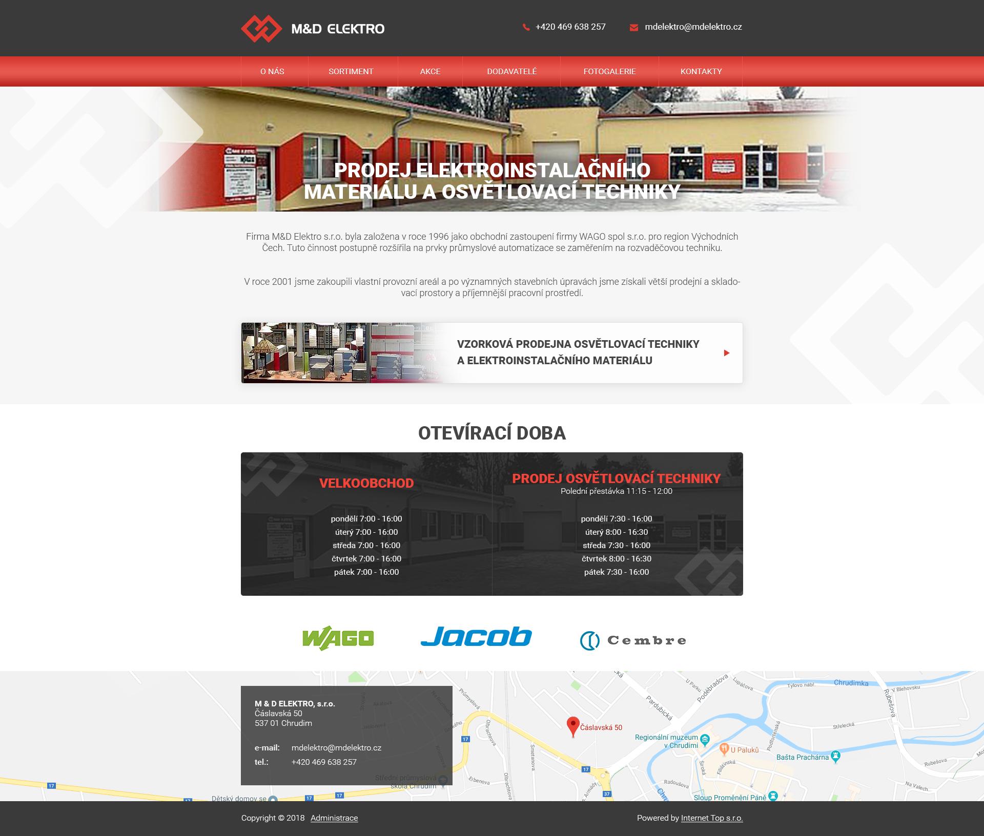 Nové www pro nového klienta M&D Elektro s.r.o.